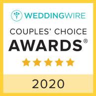 WeddingWire Couples' Choice Awards 2020 logo.