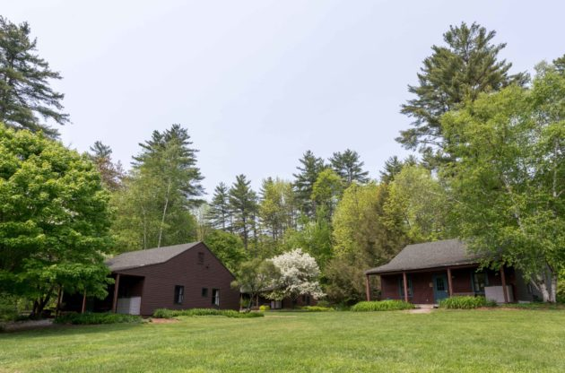 The outside of two Hulbert cabins.
