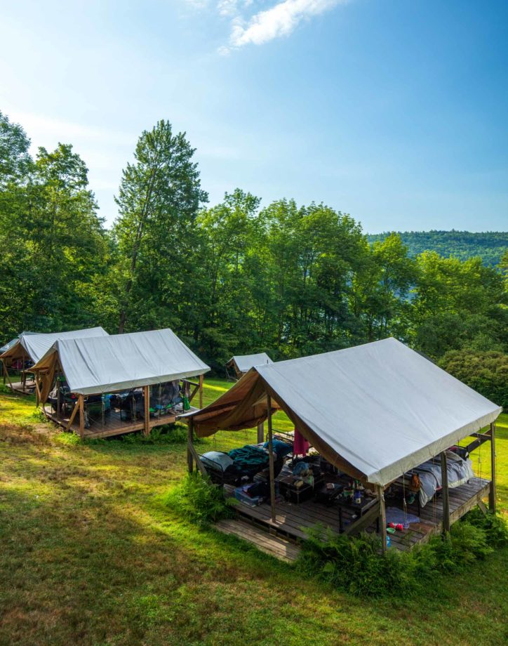 Camp cabins.