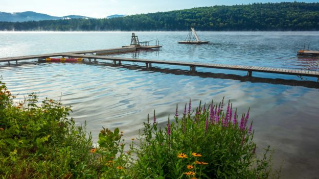 A dock over the lake.