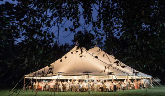 A wedding tent.