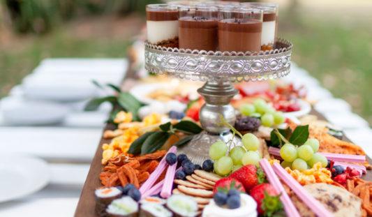 Food at a wedding.