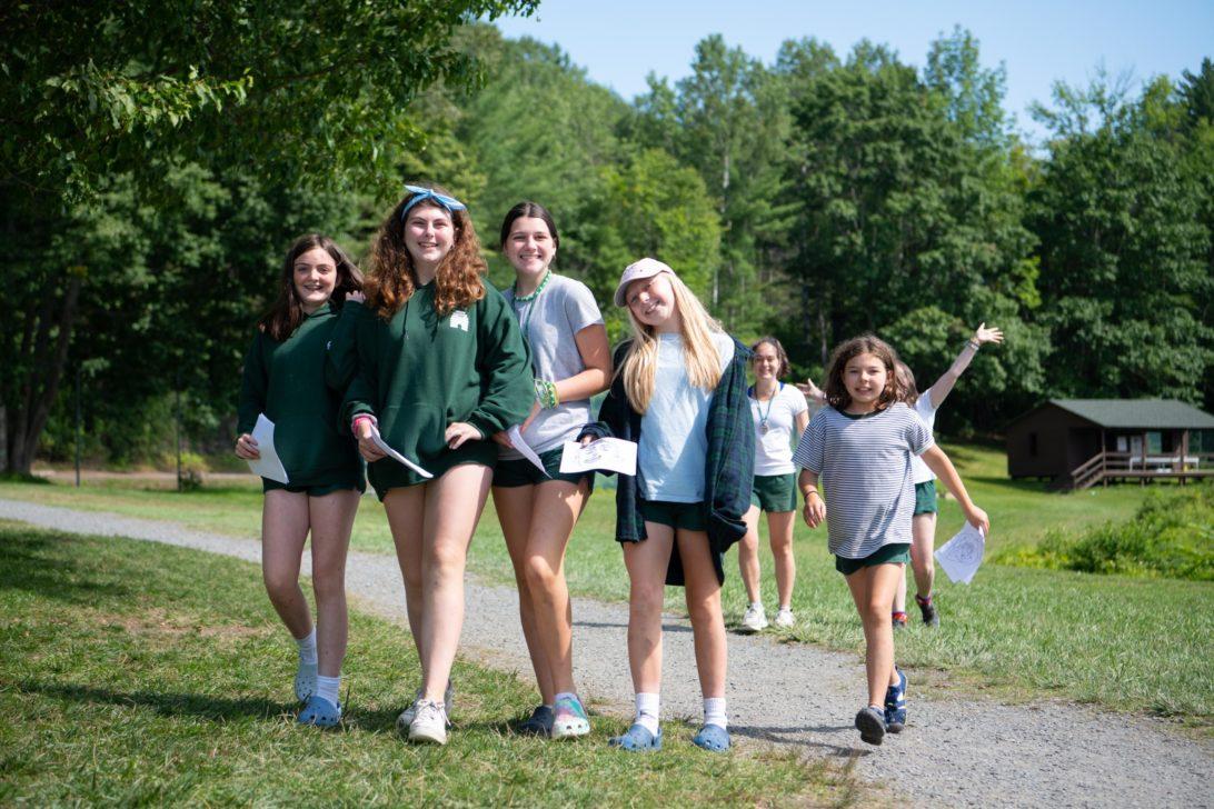 Campers walking.
