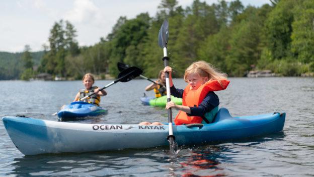 Campers kayaking.
