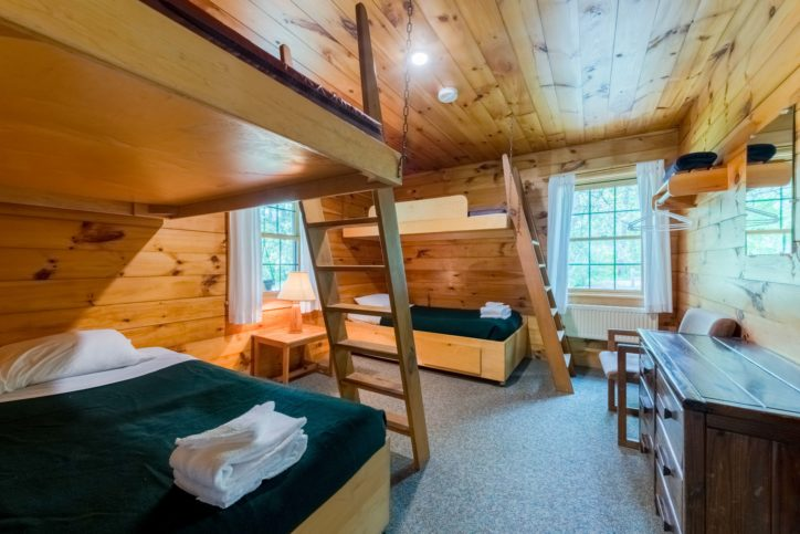 The inside of a Hulbert cabin.