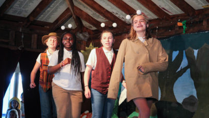 Campers dressing up for a play/theatre performance.