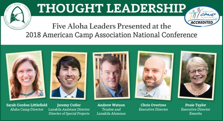 Aloha 2018 ACA Presenters