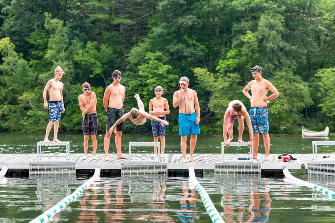 A group of Lanakila campers about to go swimming.